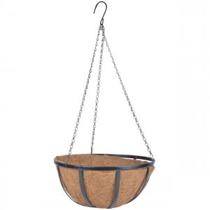Storyplanter plantenhanger Esschert Design zwart kokos ijzer
